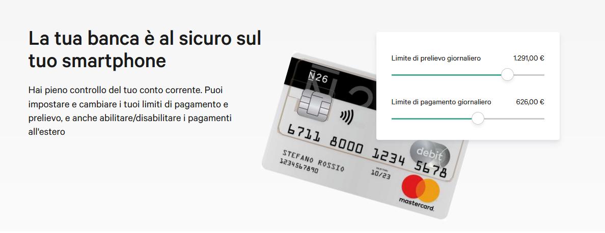 Accompagnata al conto c'è anche una carta Mastercard che viene recapitata direttamente a casa senza spese aggiuntive.