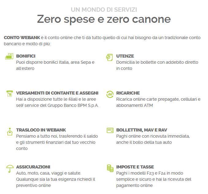 07e05dbb3b Vantaggi Conto WeBank: 0 Canone, Home Banking e Phone Banking gratuiti