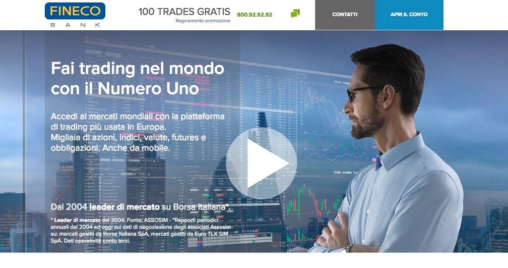 Conto Corrente Fineco Zero Canone 50 In Omaggio E 100 Ordini Di Trading Gratuiti